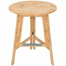 Mesa bistró de bar de madera cerveza fiesta jardin plegable y robusta Ø 78 cm