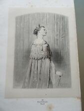 GRAVURE ORIGINALE 1860 BIJOUX ACCESSOIRES LE MANTEAU ROYAL