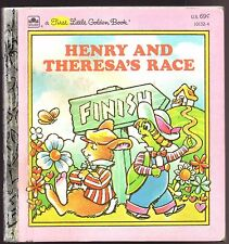 Children's First Little Golden Book HENRY AND THERESA'S RACE Tortoise Hare