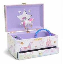 Jewelkeeper Girl's Musical Jewelry Storage Box with Pullout Drawer Glitter Ra...