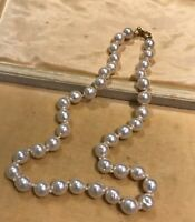 Vintage Faux Pearl Knotted Necklace