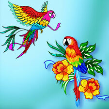 STUNNING PARROTS  10 MACHINE EMBROIDERY DESIGNS CD or USB