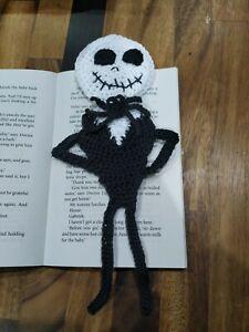 Handmade bookmark Jack skeleton inspired nightmare before Christmas