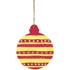 Anhänger Christbaumkugeln 4er Set Weihnachtskugeln HOLZ Bemalen Weihnachten NEU