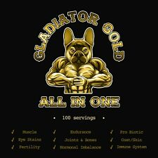 Gladiator gold dogs puppy muscles vitamins eye stains