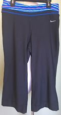 Womens Nike Fit Dry S 4 6 Yoga Capri Athletic Gym Workout Fitness Running Swoosh