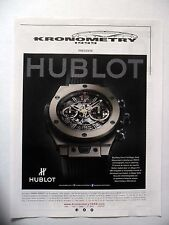 PUBLICITE-ADVERTISING :  HUBLOT Big Bang Unico Full Magic Gold  2015 Kronometry