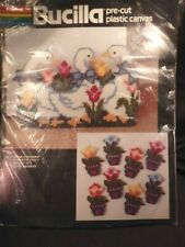 """Plastic Canvas Kit Sealed """"Geese A Walking"""" Doorstop & 8 """"Tulip"""" Magnets"""
