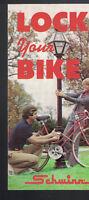 Lock Your Bike Brochure Schwinn Bicycles 1974