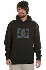 DC Mens Star PH Hoody, Black on Black XL Pullover Hood