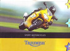 TRIUMPH Motorrad Prospekte 7 Stck.: Rocket III/Katalog 1996/2001/2003/Motorcycle
