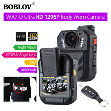 "BOBLOV WA7-D 1296P 64GB 2.0"" Body Worn Camera Remote Control Night Vision P6"
