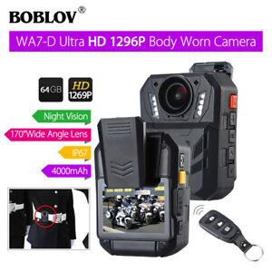 """BOBLOV WA7-D 1296P 64GB 2.0"""" Body Worn Camera Remote Control Night Vision P6"""