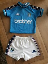 Manchester City Official HomeKappa Baby Kit Size K9 6-9 months - Very RARE Retro