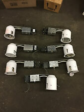 Lot of 7 Intense IV4R 4 in. White Non-IC Remodel Recessed Lighting Kit