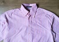 GANT Long Beach Poplin Men's  Regular Fit Pink Striped Shirt, Size M, VGC !