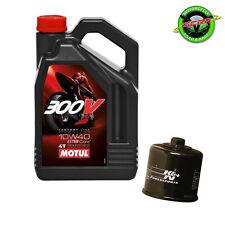 4L Motul 300V 10w40 + K&N Oil Filter - Kawasaki ZX10R 2004-2006