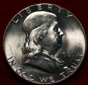 Uncirculated 1961 Philadelphia Mint Silver Franklin Half