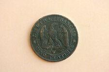 5 CENTIMES NAPOLEON III TETE NUE 1854 W TTB  belle monnaie !