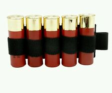 Black Shotgun Shell Holder Patch Shell Tactical Airsoft Molle Patch Free UK P&P
