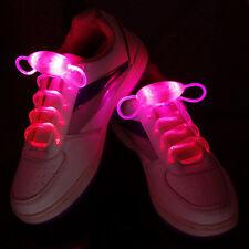 1 Paire Lacets Lumineux A LED ColorLight Chaussure Collier Bracelet Neuf - Rouge