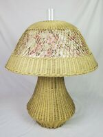 Victorian Wicker Oil Lamp Heywood Wakefield Bradley Hubbard B & H Restored GWTW