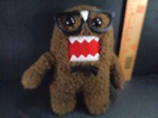 "Domo Plush Stuffed Toy Doll Animal Brown Kun Monster Super Nerd 7"" Glasses Tie"