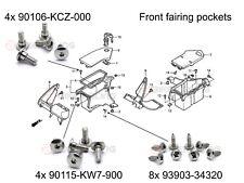 Honda NT650V Deauville front fairing pockets shouldered bolts & truss screws kit