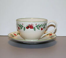 One Holiday Inspirations and Illustrations Cup and Saucer with Stickers - Lenox