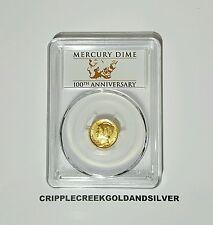 2016-W Gold Mercury Dime 100th Anniversary PCGS SP70 FS - Centennial Label w/OGP