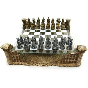 New! Dal Rossi Italy Roman Gladiators COLOSSEUM Luxury Chess Set 3D Board Game