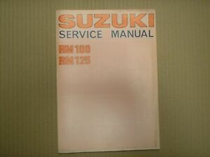 Suzuki RM 100 125 RM100 A 1976 RM125 A S 1976 ?? genuine service workshop manual