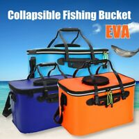 11-35L EVA Foldable Waterproof Carp Fishing Bucket Live Fish Container   *