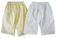 "2 Pair White / Cream Pantaloons Handmade for 18"" American Girl Doll Clothes"