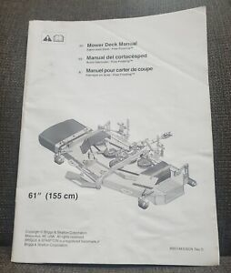 """Simplicity 61"""" Fabricated Deck for Legacy XL  Operator's Manual 80021443USCN"""