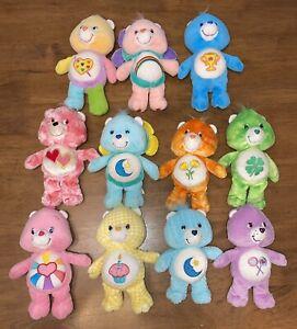 "Care Bear Lot 11 9"" Stuffed Plush Toys 2002-2005  Mixed Series Tie Dye Flower"
