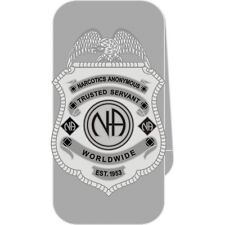 Narcotics Anonymous NA Trusted Servant Money Clip 12 Step Recovery Silver Metal