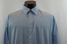 TOMMY HILFIGER Dress Shirt - White/Baby Blue Plaid - M
