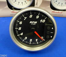 """Marshall 3092 5"""" Tachometer 10,000 RPM Memory Tach with Recal Pedestal Mount"""