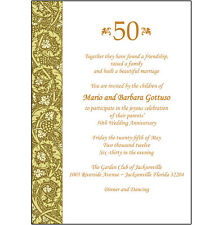 25 Personalized 50th Wedding Anniversary Party Invitations  - AP-011