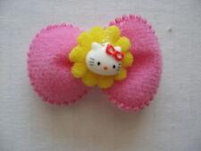 Appliques 35 pcs Hello Kitty Cat Dark Pink Bow Padded Felt