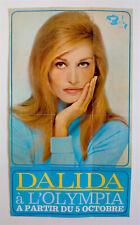 DALIDA – AFFICHE ORIGINALE DE CONCERT – PARIS - OLYMPIA –TRÈS RARE -  1967