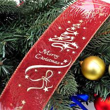 Creative DIY Christmas Party 6.3*200cm Xmas Tree Ornament Decor PVC Silk Ribbon