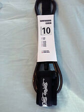 Surfboard Leash 10' NEW!! Stand UP Paddle Board Leash SUP - Black