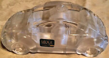 Mikasa Germany Clear & Frosted Crystal Glass Volkswagon Beetle Ornament-Nwob