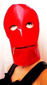 Lackmaske mit Mundreißverschluß Vinylmask with Mouthzipper,Wetlook
