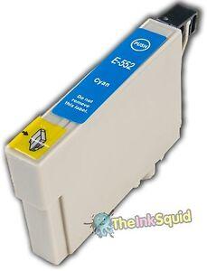 1 Cyan T0552 non-OEM Ink Cartridge For Epson Stylus Photo Printer R240 R245