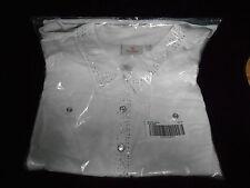 Quacker Factory Sparkle Vest w/Rhinestones Button Front 2X NEW FREE SHIP 48 STA