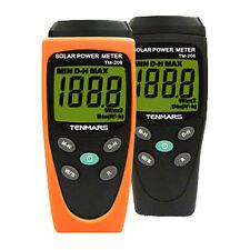BTU Solar Power Meter W/M2 Radiation Energy Cell Sensor Tester Tenmars TM-206