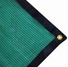 Green Shade Cloth Tarp Grommets Heavy Duty Mesh Outdoor Camping Picnic 12ftX8ft